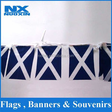 custom polyester printed national triangle flag /national string flag promotion/wholesale pennant flag