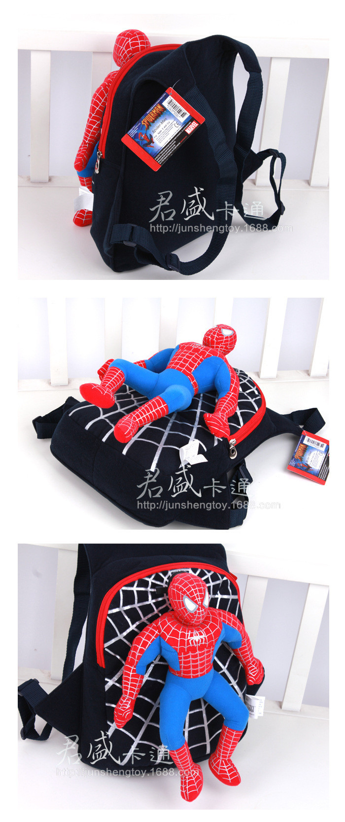 Character 2014 Cute 3D Spiderman Детский Backpacks Baby School Bags For Boys Cartoon Backpack Kids Satchel Mochila Infantil