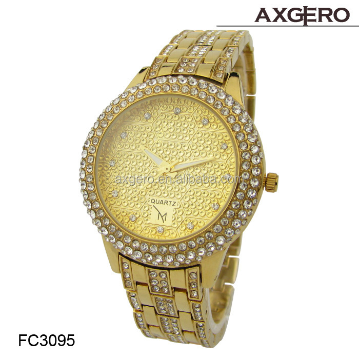 wholesale luxury womens watches gold quartz cheap