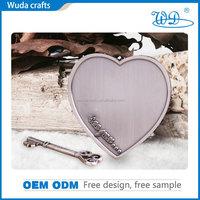 Beautiful love shape christian wedding gift cheap unique customized aluminium antique silver plating rare challenge coins