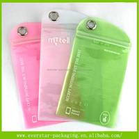 2015 Wholesale Waterproof Ziplock Pink Bag For Mobile Phone