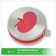 Unique Design Kidney Shape Stainless Steel Tape Measure With Icon Button With Logo Printed