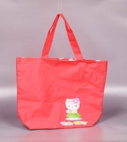 Custom kitty disposable non woven shopping tote bag printing