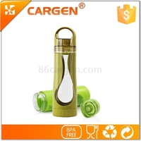 New for office business type wide mouth portable plastic sport water bottle