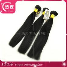 "24"" High quality grade AAAAAAA factopy price silk straight all colour stick human hair"