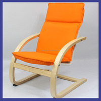 morden wood chair for child with metal back and cushion