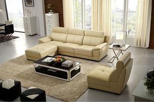 Cuero brillante de color sofá FM180 muebles de sala