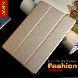 TRANSLUCENT IN MANY COLOR SMART COVER FOR iPad air2 PU leather stand case for iPad Air 2/6