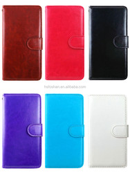 Wallet mobile phone cover for alcatel one touch fierce xl 5054N 10 colors selection