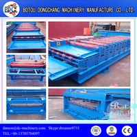 Corrugated Roofing Sheet and IBR Sheet Metal Double Layer Roll Forming Machine Made in China