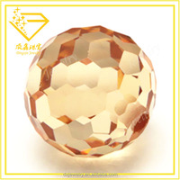 Champagne Faceted High Clarity Ball Most Popular Products Cubic Zirconia