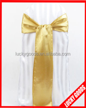 hot sale yellow chair sashes with mixed color