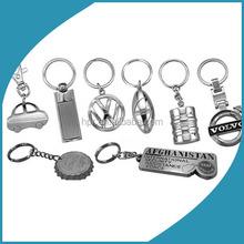 Custom LOGO design metal name sublimation blank keychain/keyring