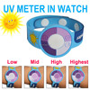 Children skin care product:Patented PVC UV Sensor Watch UV Monitor Bracelet Remind You Away From UV Radiation