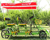 best quality used quadricycle surrey pedal car 4 person bike for sale