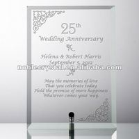 Crystal Plaque As Crystal Wedding Anniversary Gifts
