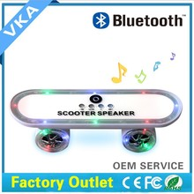 Portable Design, Powerful Bass, Supports USB and MicroSD, Handsfree Built-in mini Led Scooter Speaker