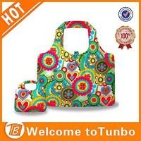 Hot shopping bags nylon folding tote bags reusable folding ripstop bag