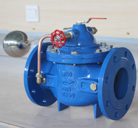 flange type float shut off valve for water level at tank manhole