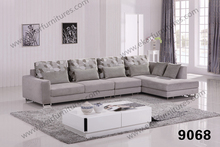 Indoor Trendy Sleek Bentwood Fabric Sofa
