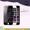 Anti peep tempered glass screen shield for iPhone 6 and iPhone 6 Plus