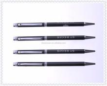 slim logo metal twist pen on sale, office twist pen,hotel twist pen