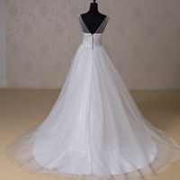 RR1518 2015 lace plus size ball gown wedding dress sweetheart beaded long tail center split skirt lace-up bridal gown