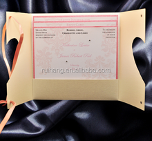 nude heart Gatefold Perfect for heart themed wedding invitations card