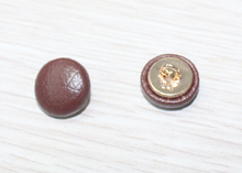 custom made real leather fabric cover button