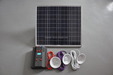 50w solar system for home use with LED light and phone charger