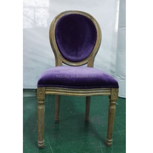Classic french style antique chair dark wood restaurant chairs
