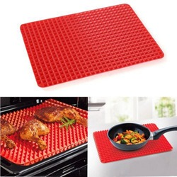 1 Pc Red Pyramid Pan Nonstick Silicone Baking Mat Mould Cooking Mat Oven Baking Tray Kitchen tools Free Shipping