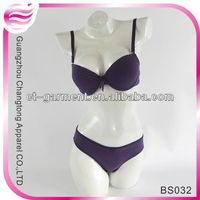 ladies nylon bra and panties set (BS032)