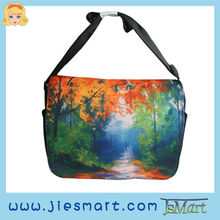 JSMART LUCY Canvas messenger bag custom made sublimation printing photo bag
