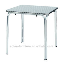 New Design Stainless steel Square Outdoor Table