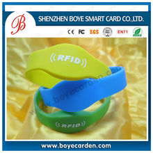 HF/UHF RF moistureproof Silicone RFID Bracelet/wristband/strap for improving patient monitoring and safety