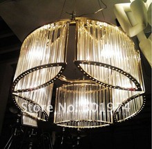 A clean and contemporary lighting beautiful brushed crystal pendant lamp copper and chrome color changeable