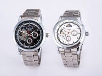 2015 Best Fathers day gifts stainless steel mechanical watch for men