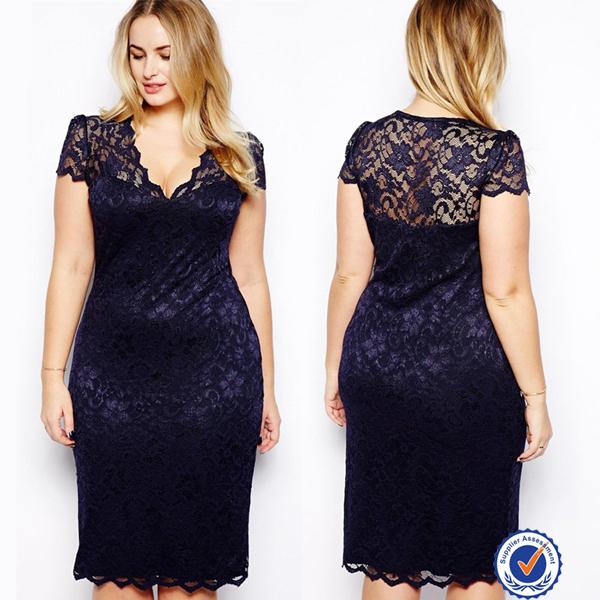 New Plus Size Women Dresses Designslatest Fat Women Sexy Tight Lace