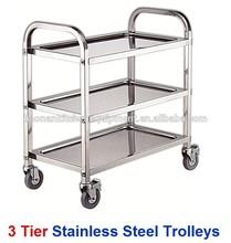 Ristorante apparecchiature 3 tier cucina in acciaio inox carrelli portavivande(mobile)