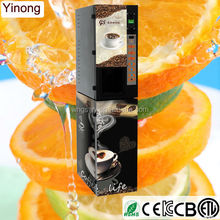 Yinong GTS103 Chinese custom made 3 hot and 3 cold drinks flavors commercial coffee vending machine