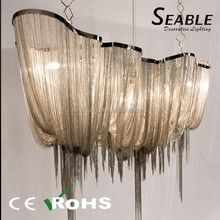 Top quality Russian with fabric lamp shade large hall decoration Chandelier light