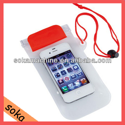 whole sale colored designer pvc cellphone waterproof bags