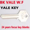 24 Year focus W.F BK VALE Yale Key blanks , key xianpai blanks yale