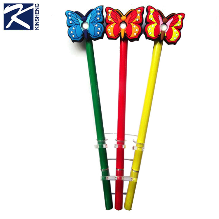 Новая оптовая форме бабочки Мягкие резиновые дешевые ручка шариковая пользовательские