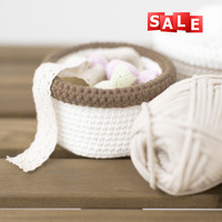 China popular product nylon cotton chunky yarn for hand knitting storage box / mat good price