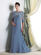 blue chiffon lace long sleeve latest color combinations of dresses