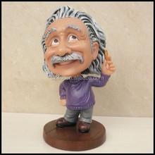 Hot Sale Decorative Bobble Head,Plastic Shaking Einstein bobblehead toys, Custom Made Your Own Bobble Head