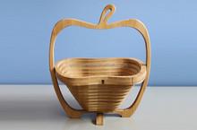 Apple shape bamboo folding fruit basket