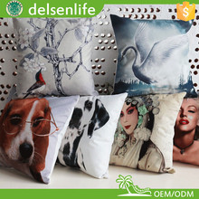 microfiber suede digital print throw pillow